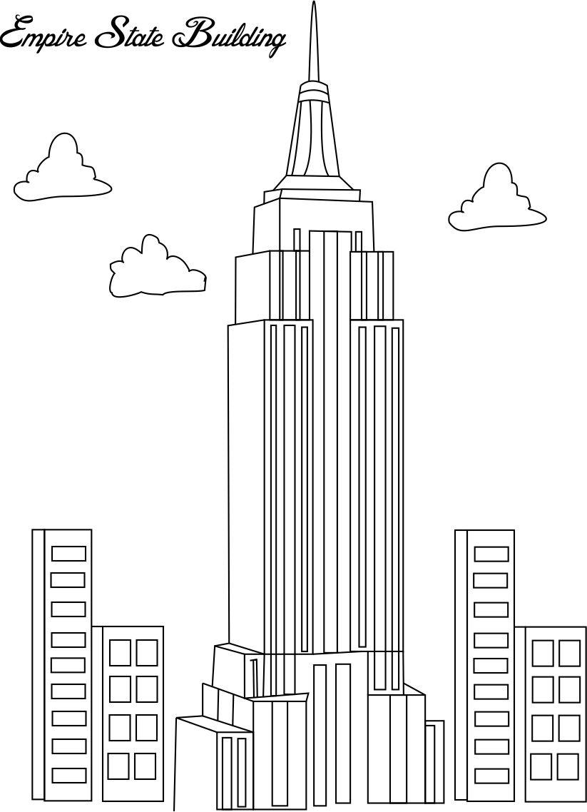 Dibujos de Empire State Edificio