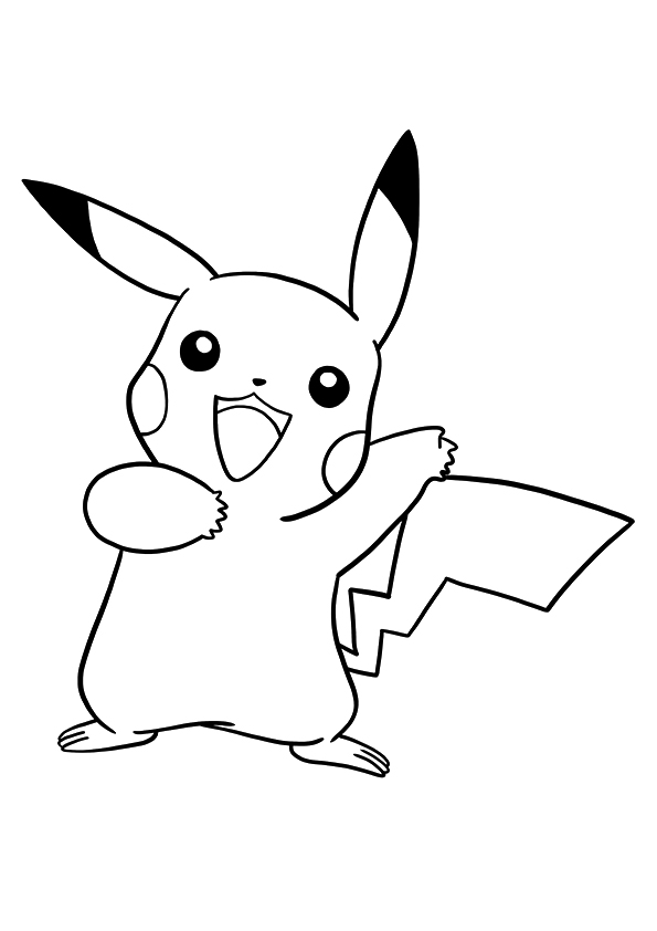 Click to see printable version of Pokemon Pikachu  Coloring page
