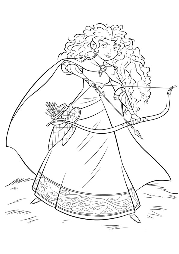 Click to see printable version of Merida Coloring page