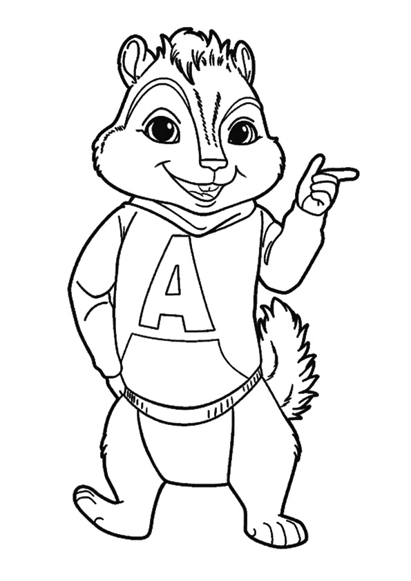 Click to see printable version of Alvin Guapo Coloring page